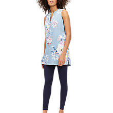 Buy Joules Sleeveless Floral Print Tunic, Chambray/White Online at johnlewis.com