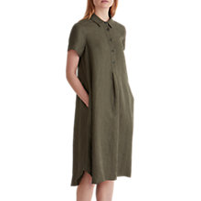 Buy Toast Swingy Pinstripe Shirt Dress, Olive Stripe Online at johnlewis.com