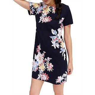 Joules Short Sleeve Print Jersey Dress, Multi