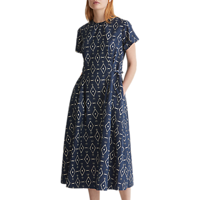 Toast Hanne Linen Cotton Dress, Sapphire