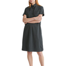 Buy Toast Cotton Twill Military Shirt Dress, Anthracite Blue Online at johnlewis.com