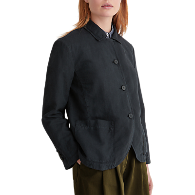 Toast Cotton Linen Jacket, Anthracite Blue