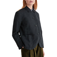 Buy Toast Cotton Linen Jacket, Anthracite Blue Online at johnlewis.com