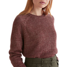 Buy Toast Linen Knit Sweater, Dark Plum Online at johnlewis.com
