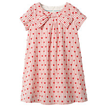 Buy Mini Boden Girls' Spotty Bow Dress, Red Online at johnlewis.com