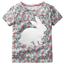 Buy Mini Boden Girls' Flock Printed Rabbit T-Shirt, Multi Online at johnlewis.com