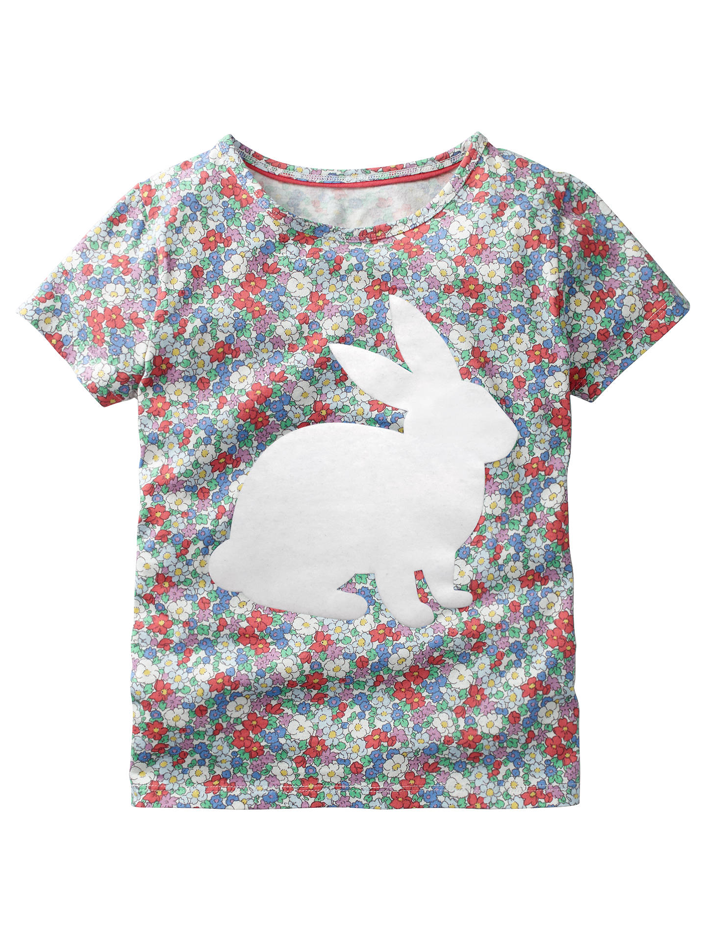 766b7848 Mini Boden Girls' Flock Printed Rabbit T-Shirt, Multi at John Lewis ...