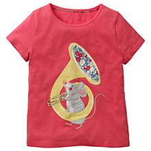 Buy Mini Boden Girls' Animal Talent Applique T-Shirt, Pink Online at johnlewis.com