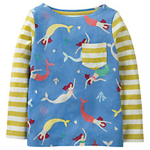 Buy Mini Boden Girls' Hotchpotch Pocket T-Shirt, Blue Online at johnlewis.com