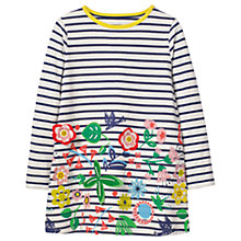 Buy Mini Boden Girls' Stripe Applique Tunic Dress, Blue Online at johnlewis.com