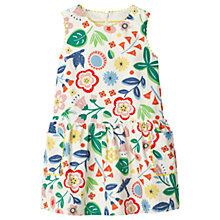 Buy Mini Boden Girls' Corduroy Floral Pinafore Dress, Ecru/Multi Online at johnlewis.com