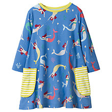 Buy Mini Boden Girls' Mermaid Printed Tunic Dress, Blue Online at johnlewis.com