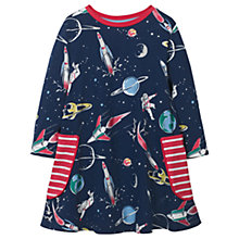 Buy Mini Boden Girls' Space Printed Tunic Dress, Navy Online at johnlewis.com