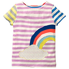 Buy Mini Boden Girls' Hotchpotch Rainbow Applique T-Shirt, Purple/Multi Online at johnlewis.com