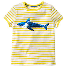 Buy Mini Boden Girls' Sequin Colour Change T-Shirt, Yellow Online at johnlewis.com