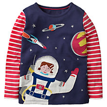 Buy Mini Boden Girls' Space Girl T-Shirt, Navy Online at johnlewis.com