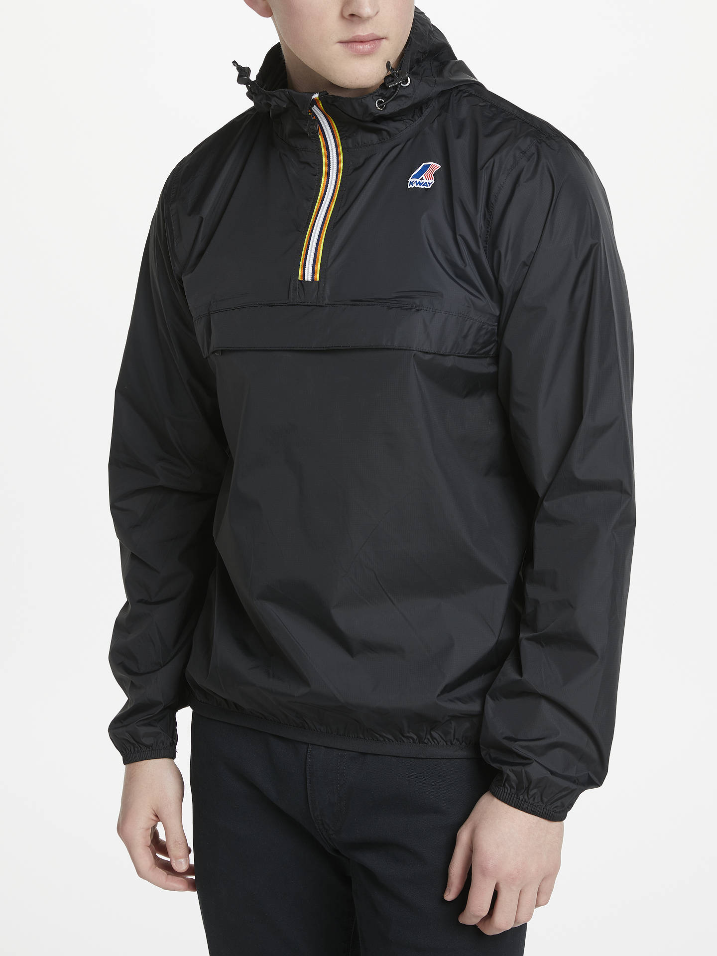 BuyK-Way Le Vrai Leon 3.0 Half Zip Pac-A-Mac, Black, S Online at johnlewis.com