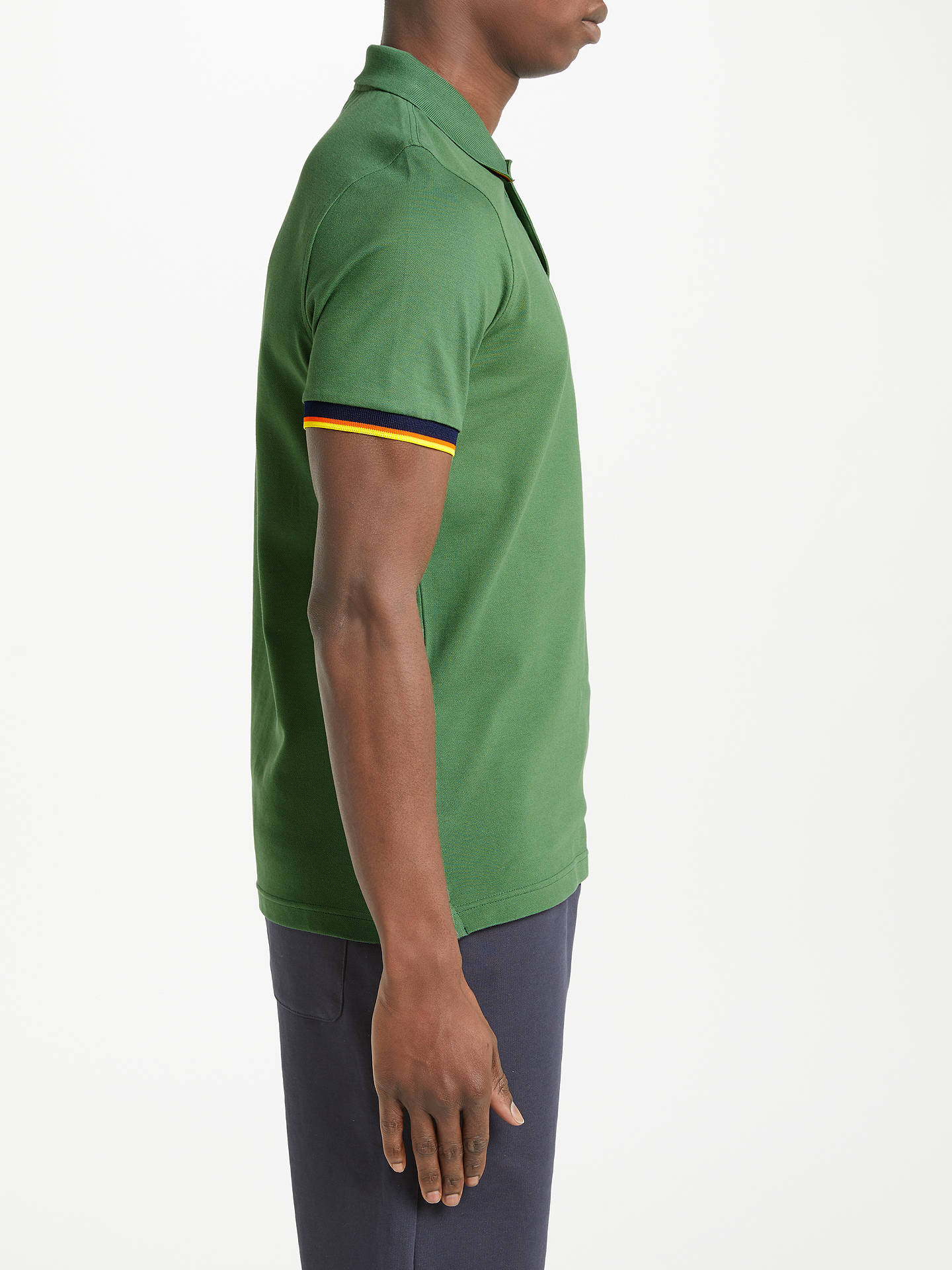 08ef0da0497 K-Way Vincent Slim Fit Short Sleeve Polo Shirt at John Lewis & Partners