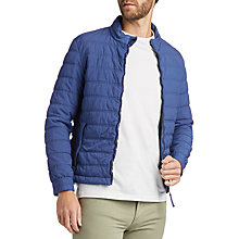 Buy BOSS Orcio Quilted Long Sleeve Jacket, Navy Online at johnlewis.com