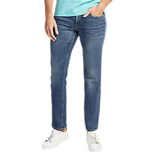 Buy BOSS Orange 63 Slim Stretch Jeans, Medium Blue Online at johnlewis.com