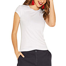 Buy Oasis Fitted Round Neck T-shirt Online at johnlewis.com