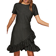 Buy Miss Selfridge Striped Frill Dress, Multi Online at johnlewis.com
