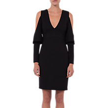 Buy French Connection Beau Cold Shoulder Dress, Black Online at johnlewis.com