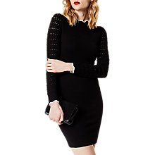 Buy Karen Millen Fitted Knit Dress, Black Online at johnlewis.com
