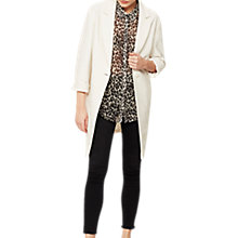 Buy Mint Velvet Longline Duster Coat, Cream Online at johnlewis.com