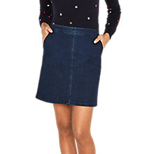 Buy Oasis Ci Ci Seamed Skirt, Denim Online at johnlewis.com