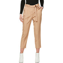Buy Miss Selfridge Petite Paperbag Trousers, Camel Online at johnlewis.com
