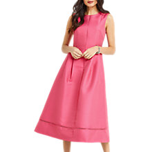 Buy Oasis Satin Twill Midi Dress, Bright Pink Online at johnlewis.com