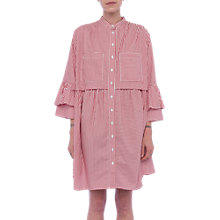 Buy French Connection Summer Shirt Dress, Blazer Red/Linen White Online at johnlewis.com