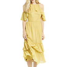 Buy Oasis Ruffle Midi Dress, Mid Yellow Online at johnlewis.com