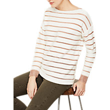 Buy Mint Velvet Metallic Stripe Insert Jumper, Multi Online at johnlewis.com