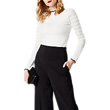 Buy Karen Millen Fitted Knit Jumper, Ivory Online at johnlewis.com