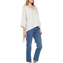 Buy French Connection Melobi Knit V-Neck Jumper, Dove Grey Online at johnlewis.com