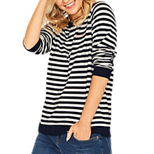 Buy Oasis Weekend Striped Sweatshirt, Multi Online at johnlewis.com