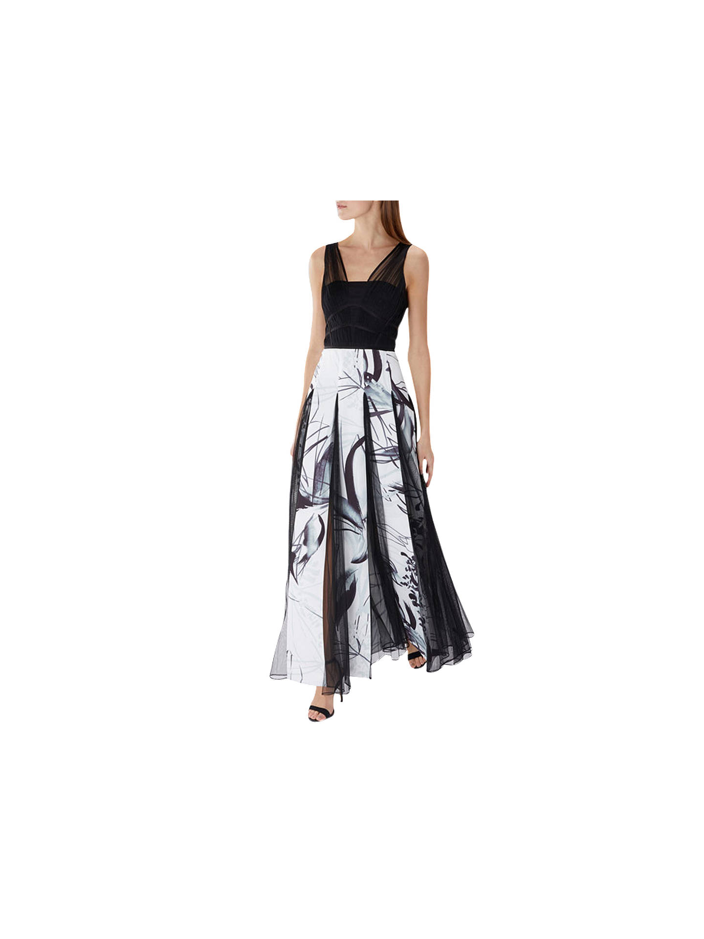 BuyCoast Sassi Maxi Dress, Black/White, 6 Online at johnlewis.com