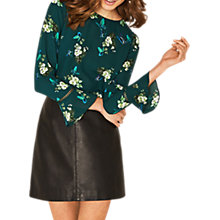 Buy Oasis Tropical Butterfly Top, Multi/Green Online at johnlewis.com