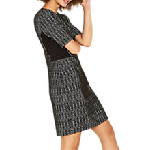 Buy Oasis Geometric Textured Shift Dress, Black/Multi Online at johnlewis.com