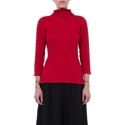 French Connection Molly Mozart Knit Jumper, Blazer Red