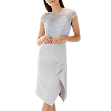 Buy Coast Florina Lace Top, Silver Online at johnlewis.com