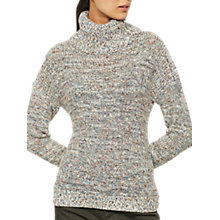 Buy Mint Velvet Twisted Yarn Roll Neck Jumper, Multi Online at johnlewis.com