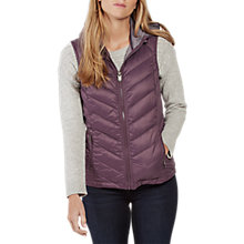 Buy Fat Face Lucy Lightweight Gilet, Blackberry Online at johnlewis.com