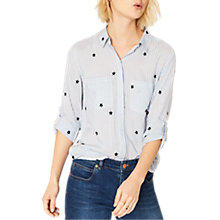 Buy Oasis Ticking Stripe Star Shirt, Multi Online at johnlewis.com