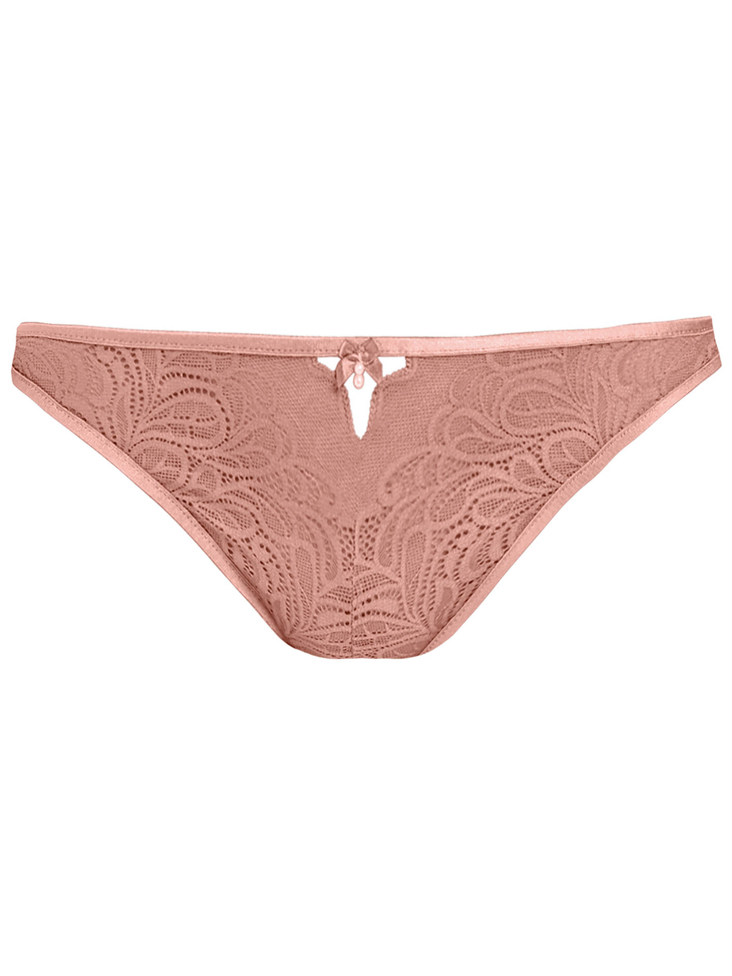 Buyb.tempt'd Undisclosed Lace Thong, Rose Smoke, S Online at johnlewis.com