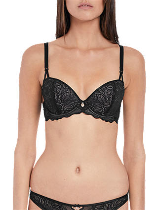 Buy b.tempt'd Undisclosed Lace Balconette Bra, Night, 32B Online at johnlewis.com