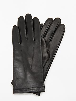 e8fbbfb3f6 John Lewis & Partners Leather Fleece Lined Gloves