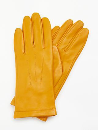 061b9edb936 John Lewis   Partners Leather Fleece Lined Gloves